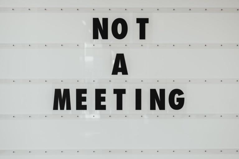 Not a meeting