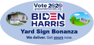 Biden Harris yard signs