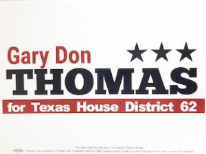 Gary Don Thomas for Texas House